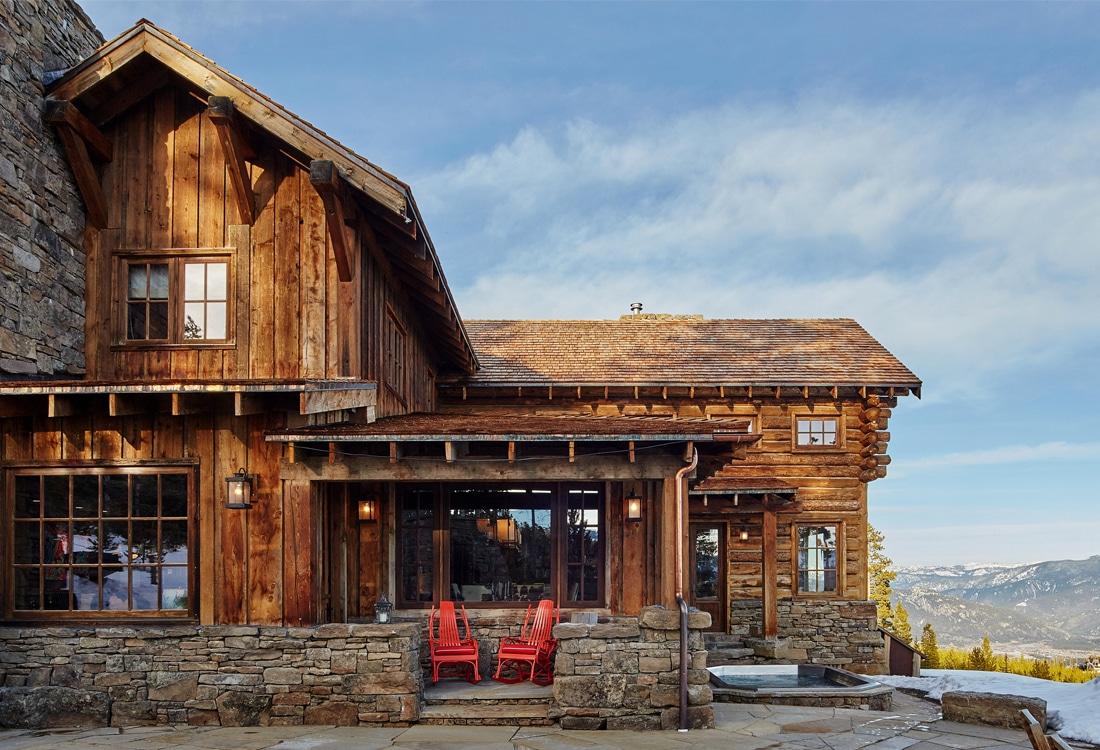 Yellowstone club portfolio centre sky architecture for Mountain lodge architecture