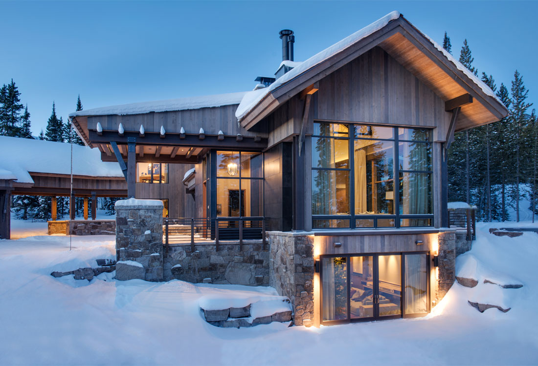 Peers homestead spanish peaks mountain club big sky for Mountain modern architecture