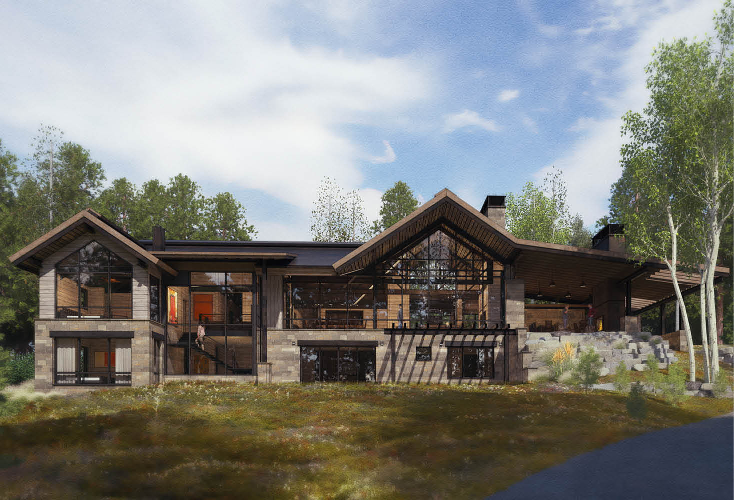 Elk Ridge 60, Spanish Peaks Mountain Club, Big Sky, Montana | Centre