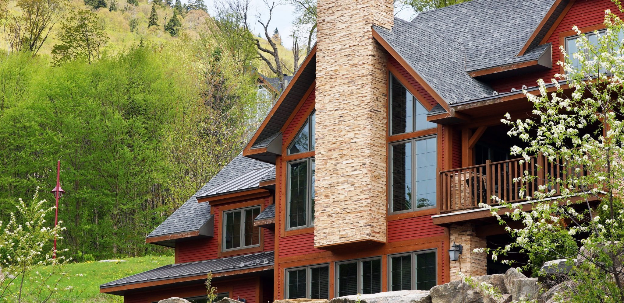 Exterior of a home in the mountains